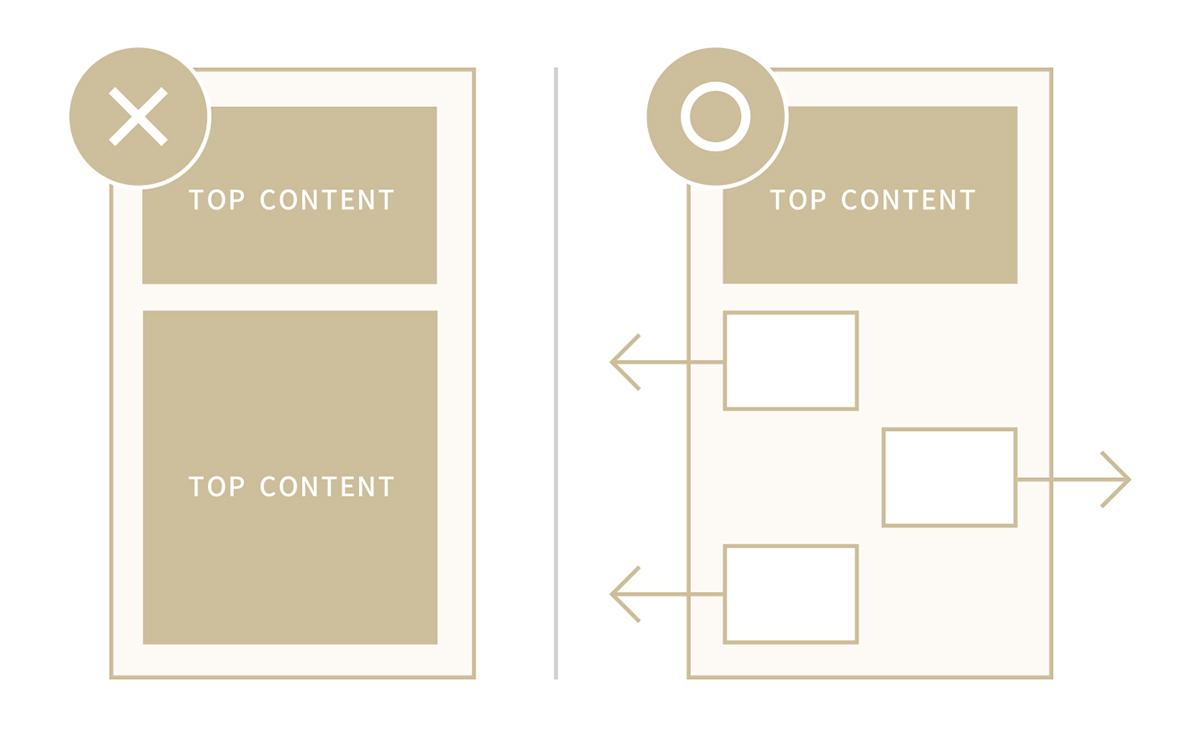 トップページには下層ページに移動しやすい仕組みを